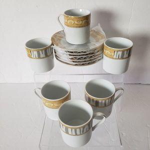 Alpine Cuisine 12 PC Coffee Set Fine Porcelain
